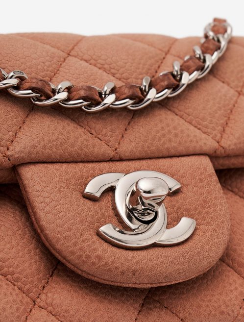 Chanel Timeless Mini Caviar Rose Silver Hardware
