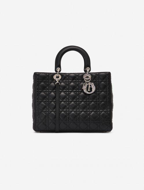 Dior Lady Large Calf Black Secondhand Handbag