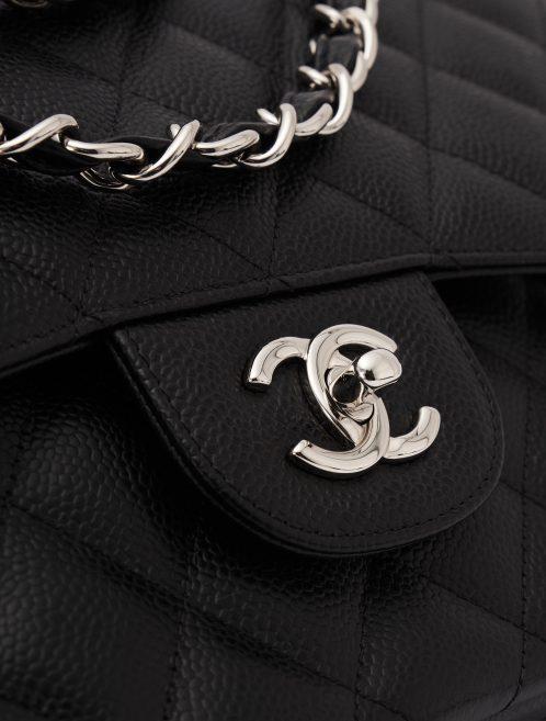 Chanel Timeless Jumbo Caviar Black Silver Hardware
