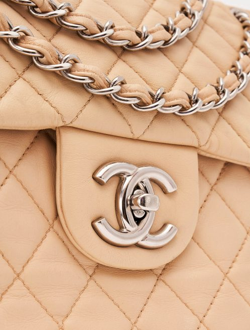 Chanel Timeless Jumbo Lambskin Beige Bag