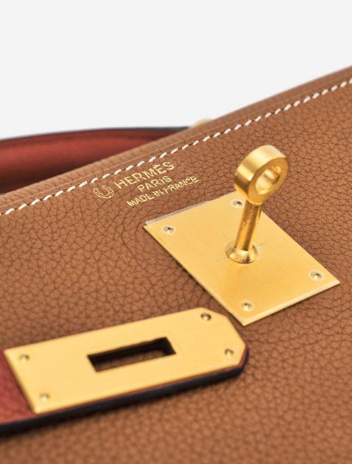 Hermès Kelly 35 Togo Gold Brique Horseshoe brushed gold hardware