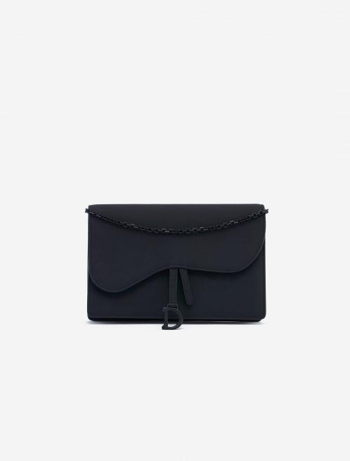 Dior Saddle Clutch Calf Ultra Matte Black Black  | Sell your designer bag on Saclab.com