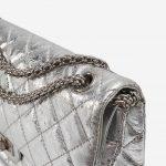 Chanel 2.55 226 Metallic Silver Limited Edition Bag Chain SACLÀB