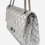 Chanel 2.55 Reissue 226 Metallic Silver Metallic, Silver    Sell your designer bag on Saclab.com