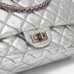 Chanel 2.55 226 Metallic Silver Limited Edition Bag SACLÀB Hardware