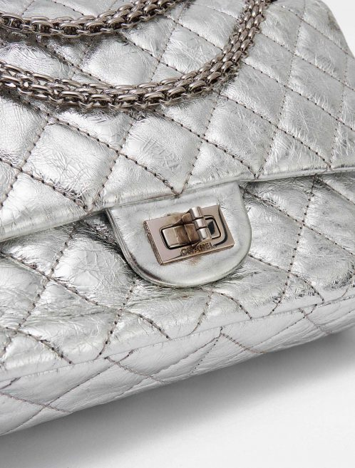 Chanel 2.55 226 Metallic Silver Limited Edition Bag SACLÀB Hardware