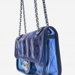 Chanel Timeless Small PVC Blue Blue, Transparent    Sell your designer bag on Saclab.com