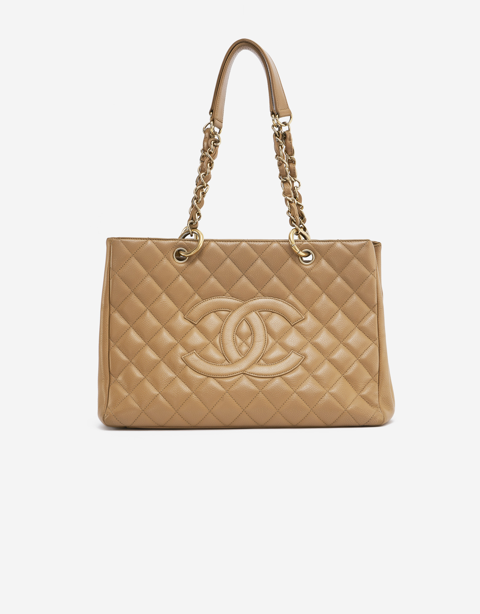 Chanel Shopping Tote Medium Caviar Leather Beige SACLÀB
