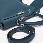 Hermès Kelly 35 Clemence leather Colvert Blue SACLÀB