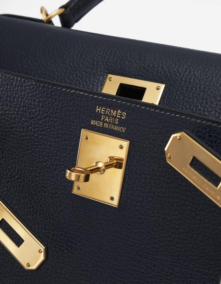 Hermès Kelly 35 Sellier Vache Liegee Bleu Indigo Bag SACLÀB