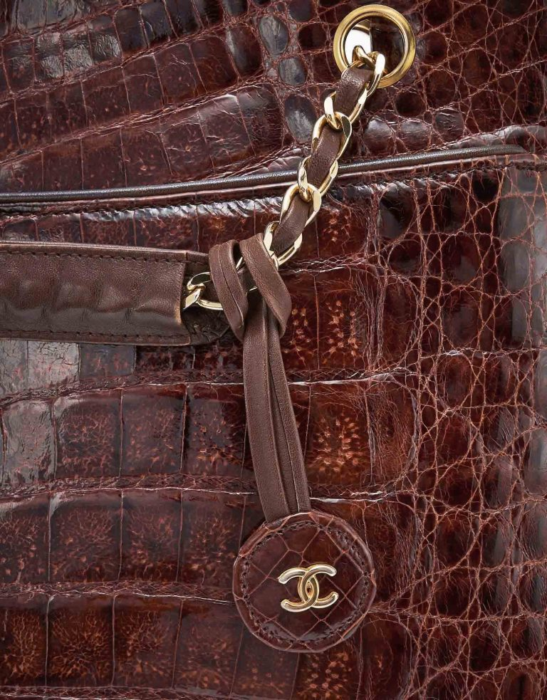 Vintage Chanel Shopper Medium Alligator Marron