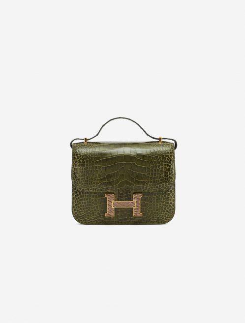 Hermès Constance Mini 18 Alligator Lizard Marquette Vert Veronese Agate Luxury Bag