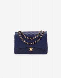 Chanel Timeless Maxi Caviar Leather GHW Dark Blue SACLÀB