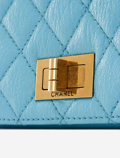 Chanel Rita Flap Bag Top Handle in Blue Turquoise Luxury Pre-Loved Bag