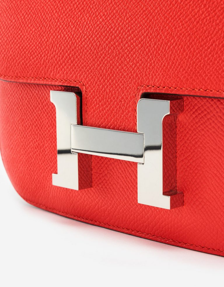 Hermès Constance Mini 18 Epsom Leather Rouge Tomate SACLÀB