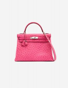 Hermès Kelly 32 Ostrich Fuchsia Exotic Luxury Bag