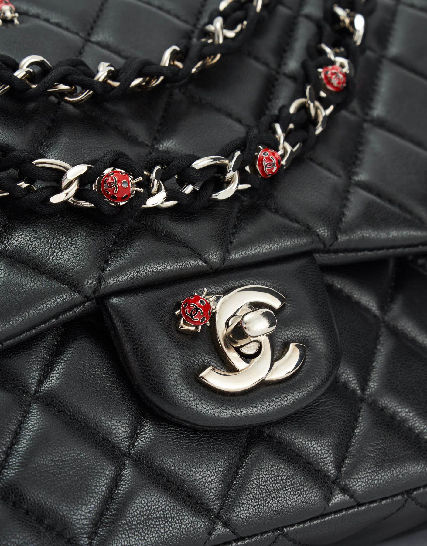 Limited Edition Chanel Timeless Medium Lambskin Black Ladybug