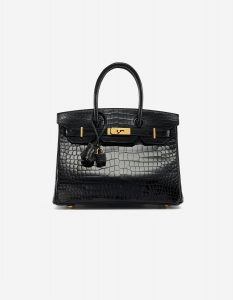 Hermès Birkin 30 Porosus Crocodile Black Exotic Luxury Bag