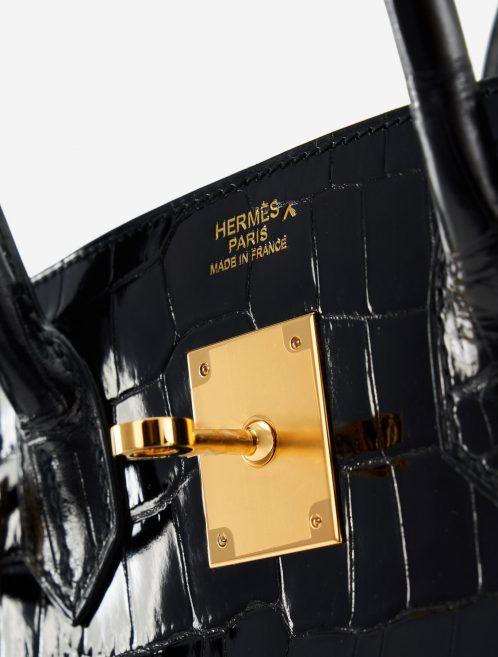 Hermès Birkin 30 Porosus Crocodile Black GHW Exotic Luxury Bag