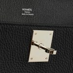 A Pre-Loved Hermés Jypsiere 28 Taurillon Clemence in Black Silver Hardware