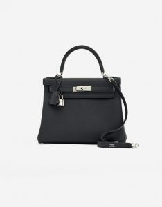 A Pre-Loved Hermès Kelly 28 Togo in Black on SACLÀB