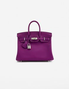 A pre-loved Hermès Birkin 25 Swift Anemone on SACLÀB