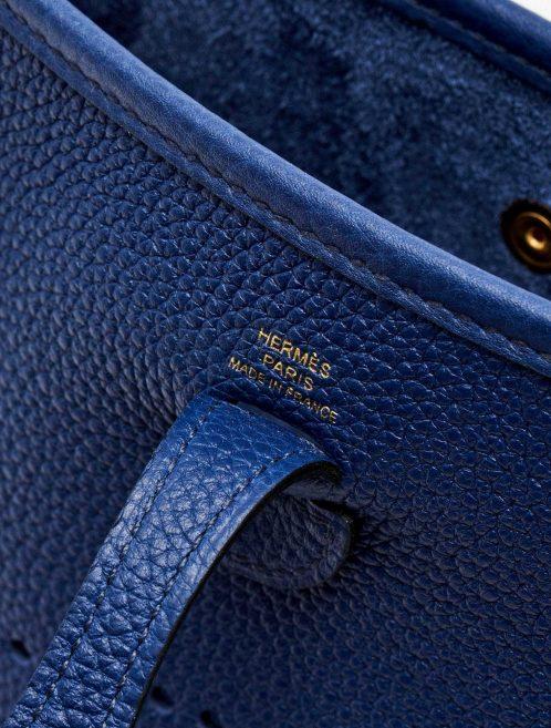 Hermès foil mark of a pre-loved Hermès Evelyne 16 Amazone Blue Sapphire / Blue Indigo on SACLÀB