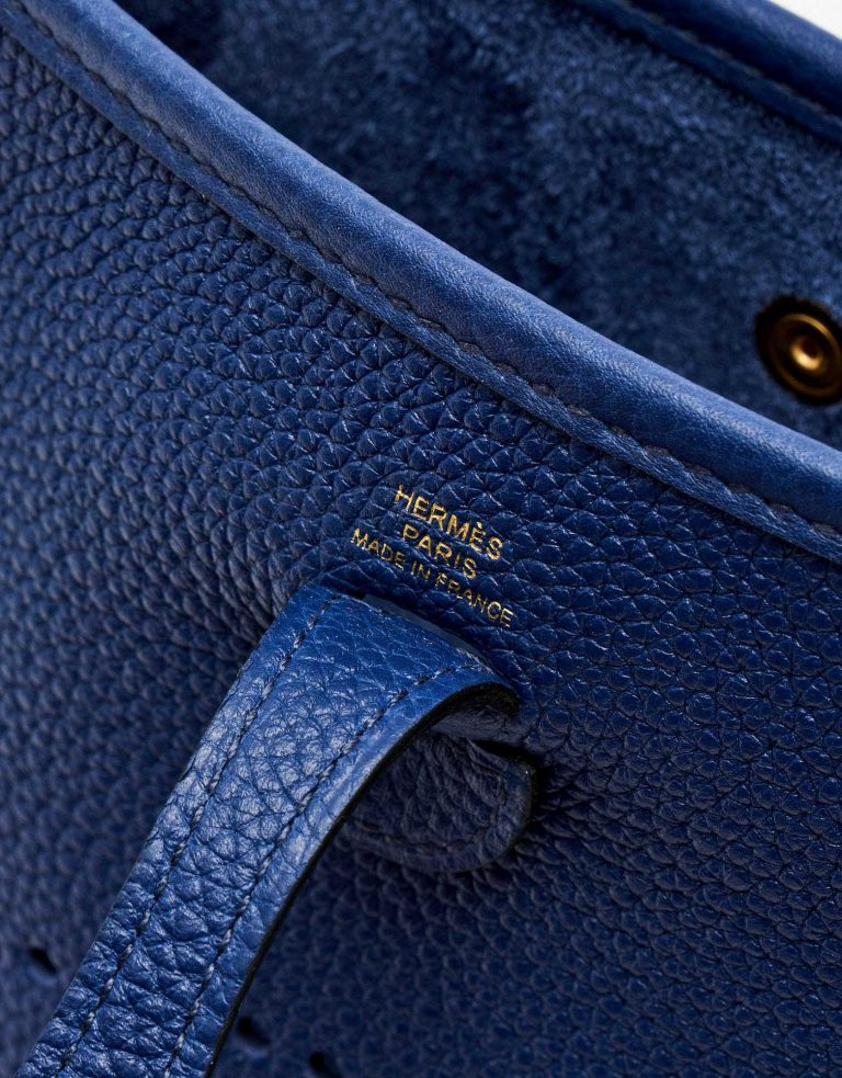 Hermès foil mark of a pre-loved Hermès Evelyne 16 Amazone Blue Sapphire / Blue Indigo on SACLÀB