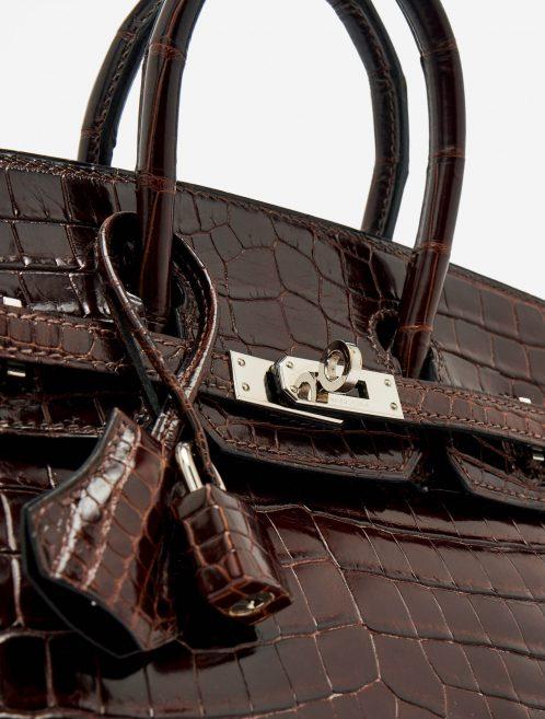 Hermès Birkin 25 Crocodile Niloticus Cocoan Brown  | Sell your designer bag on Saclab.com