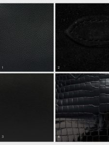 hermes colour library black togo suede swift croco on saclab.com