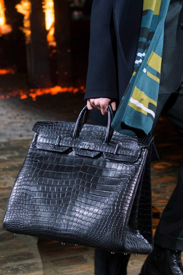 An exotic Birkin Bag for Hermès Men's Fall/Winter 2018