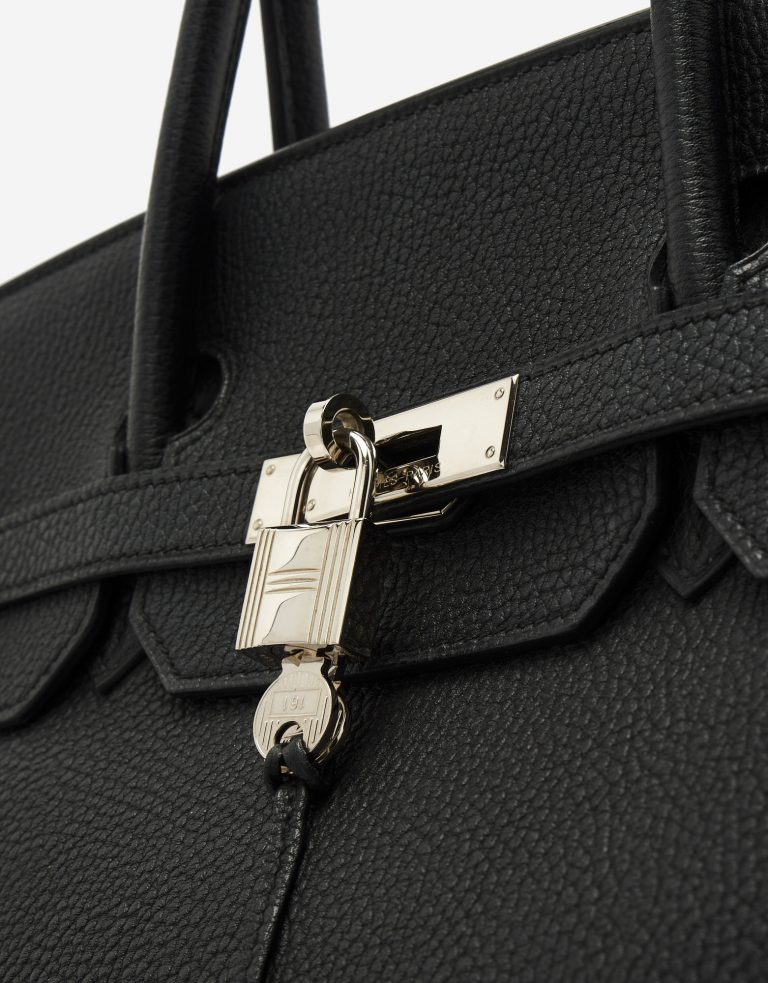 A pre-loved Hermès Birkin 40 in Black Clemence Leather on SACLÀB