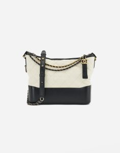 A black and white Chanel Gabrielle Bag Large on SACLÀB