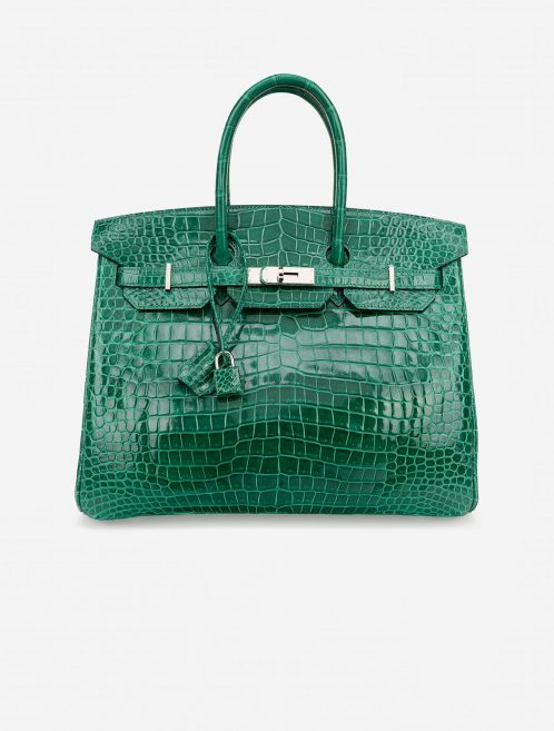 Hermès Birkin 35 Crocodile Porosus Vert Emeraude Green  | Sell your designer bag on Saclab.com