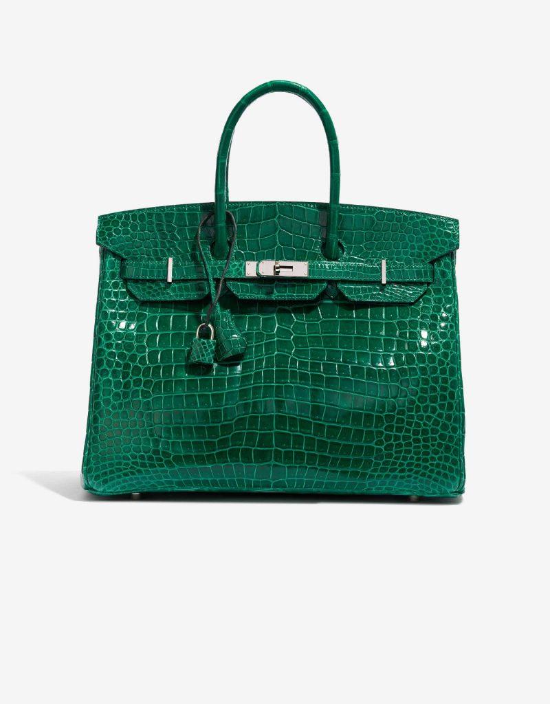 Hermès pre-loved Birkin Crocodile Vert Emerald SACLÀB