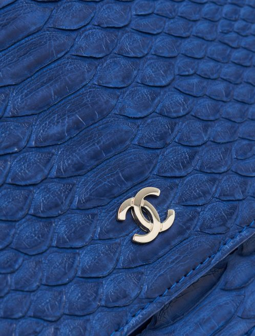 Hardware Detail on a Pre-Loved Chanel Wallet On Chain Python Blue on SACLÀB