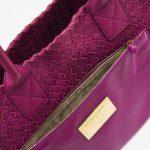A pre-loved Bottega Veneta Cabat Small Intrecciato Purple on SACLÀB