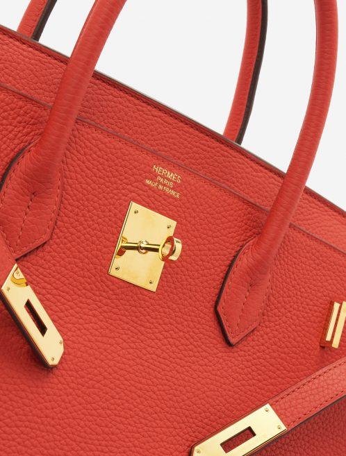 A pre-loved Hermès Birkin 40 Togo Rouge Tomate on SACLÀB