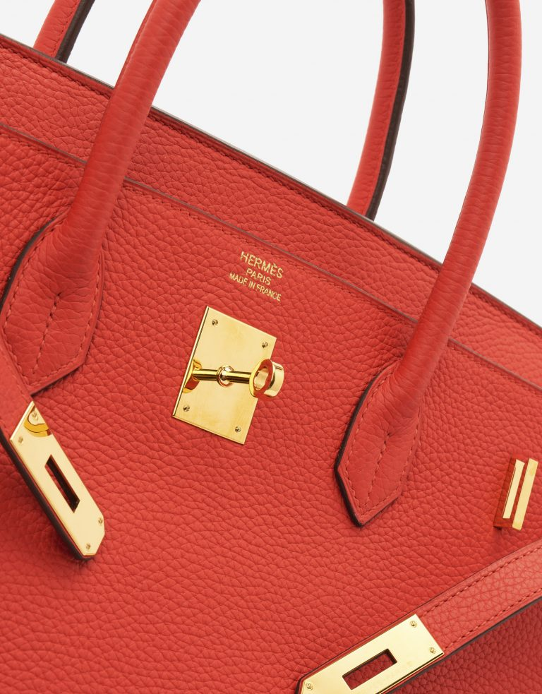 A pre-loved Hermès Birkin 40 Togo Rouge Tomate on SACLÀB