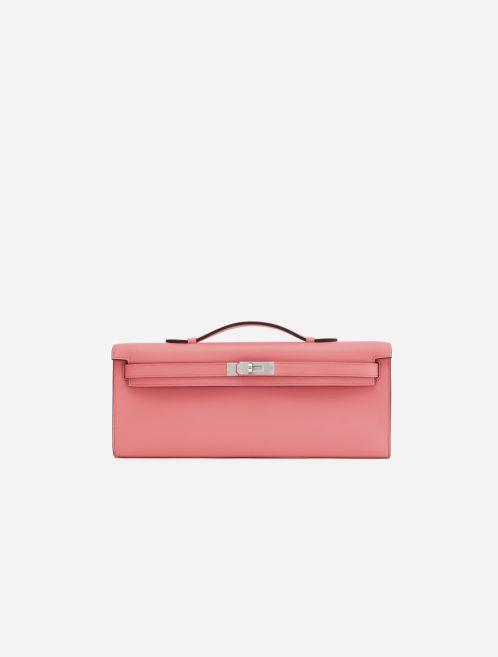 A pre-loved Hermès Kelly Cut Clutch Swift Rose d'Ete on SACLÀB
