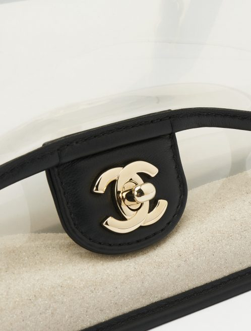 A pre-loved Chanel Timeless Medium PVC 'Sand By The Sea' on SACLÀB