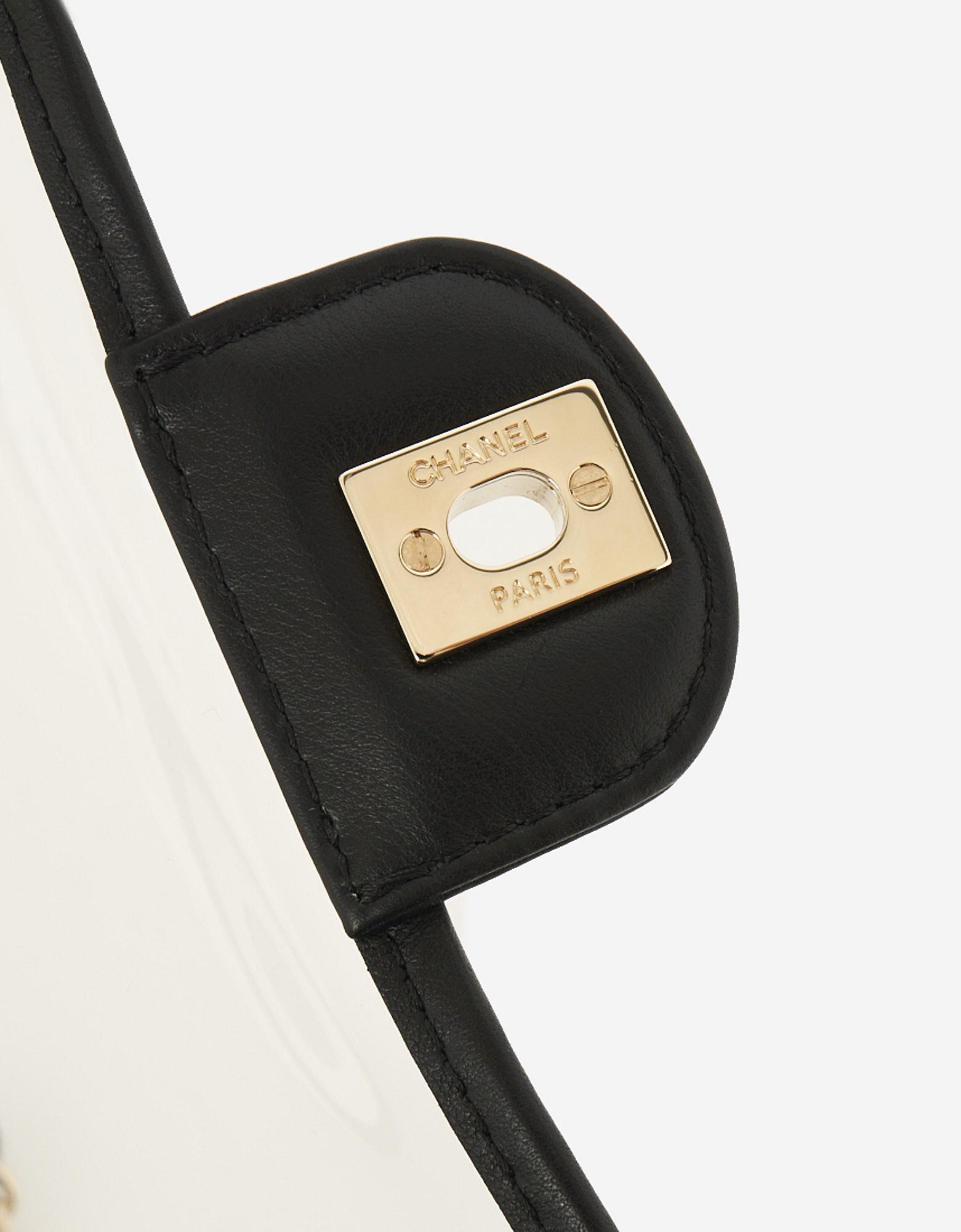 A pre-loved Chanel Timeless Medium PVC 'Sand By The Sea' on SACLÀB