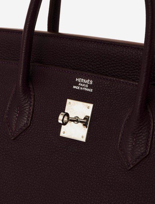 A pre-loved Hermès Birkin 40 Clemence Raisin on SACLÀB