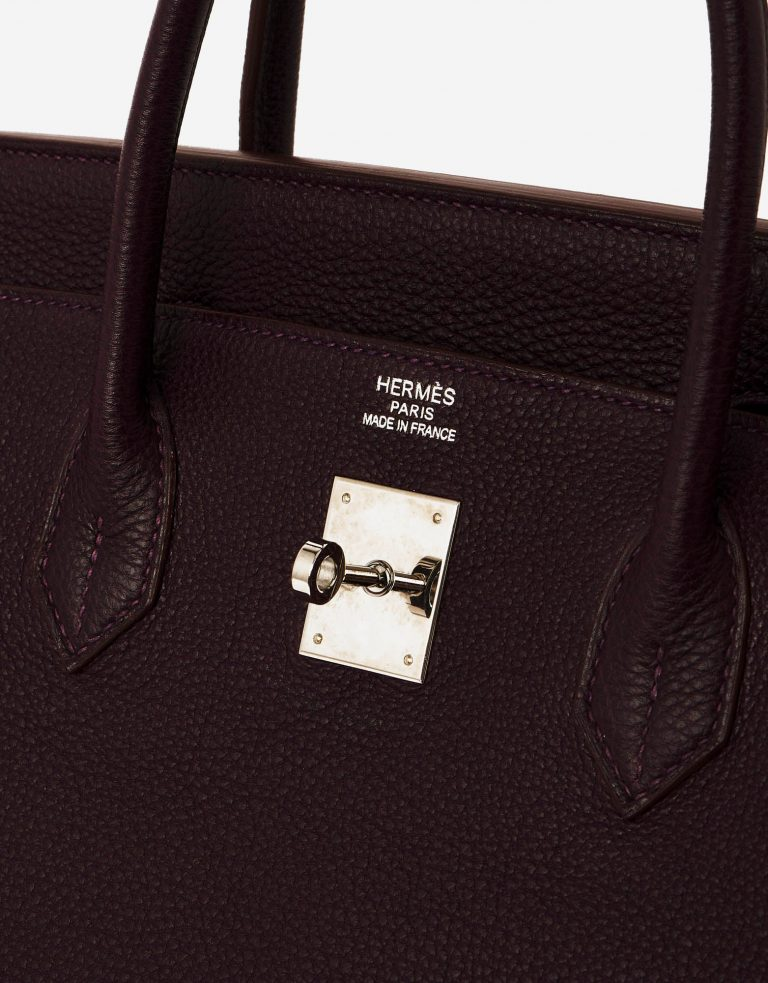 A pre-loved Hermès Birkin 40 Clemence Raisin on SACLÀB