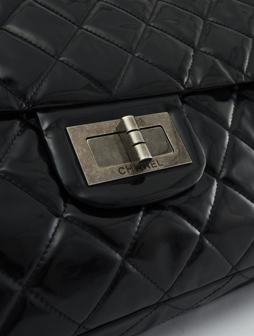 A pre-loved Chanel 2.55 Large Vinyl Black on SACLÀB