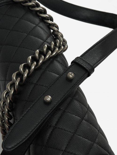 Chanel Boy Medium Caviar Black Black  | Sell your designer bag on Saclab.com