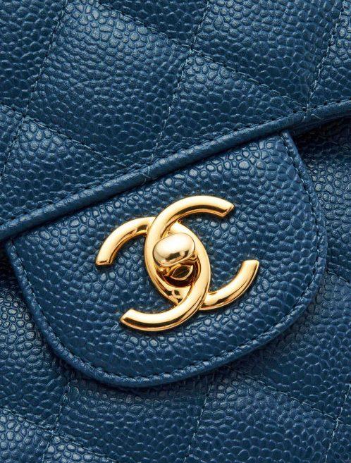 A pre-loved Chanel Timeless Jumbo Caviar Blue on SACLÀB