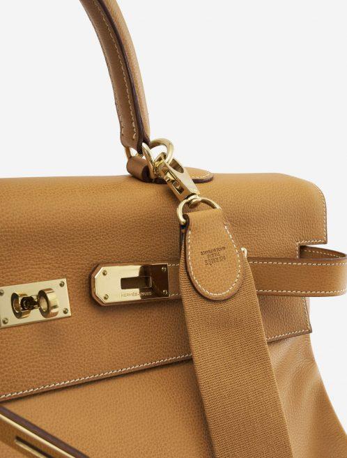 A pre-loved Hermès Kelly 50 Barenia Natural on SACLÀB