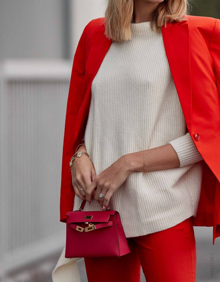 Streetstyle Hermès Kelly Mini Pochette Red SACLÀB