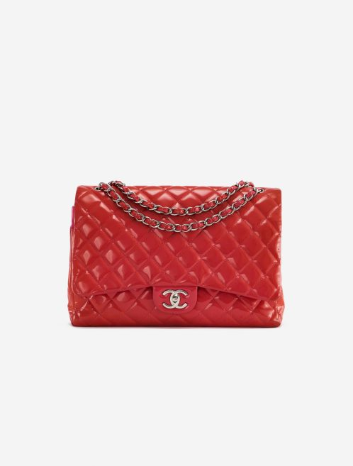 Chanel Timeless Maxi Patent Leather Red Red  | Sell your designer bag on Saclab.com